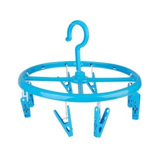 Séchoir pour sous-vêtements rond à suspendre - 8 Pinces - Bleu
