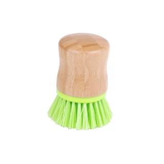 Brosse vaisselle poils durs - Diam. 5 cm - Vert anis