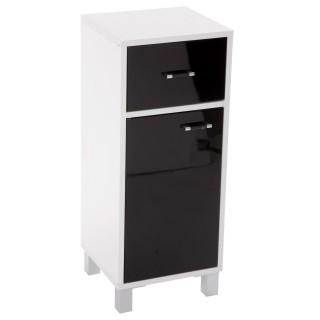 Meuble bas de salle de bain Glossy - H. 78 cm - Noir