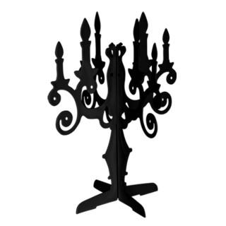 Porte bijoux Chandelier - 8 Paires de boucles d'oreilles - Noir
