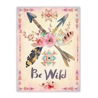 Toile flèches Boho - 30 x 40 cm - Be wild