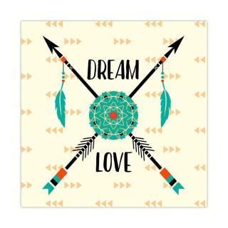 Cadre mandala et flèches - 30 x 30 cm - Dream Love