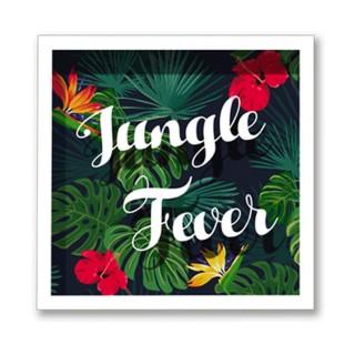 Cadre imprimé fleurs Double - 30 x 30 cm - Jungle fever