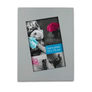 Cadre photo à poser Biais - 15 x 20 cm - Gris