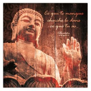 Cadre Bouddha - 40 x 40 cm - Ce qui te manque cherche