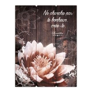 Cadre Bouddha - 30 x 40 cm - Ne cherche pas le bonheur crée-le