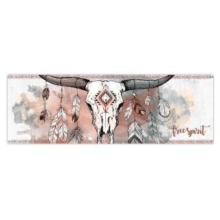 Toile tête de buffle Boho - 90 x 30 cm - Free Spirit