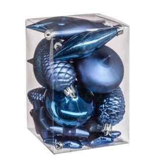 Kit déco pour sapin de Noël - 20 Pièces - Bleu nuit