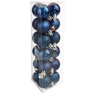 Kit déco pour sapin de Noël - 18 Pièces - Bleu nuit