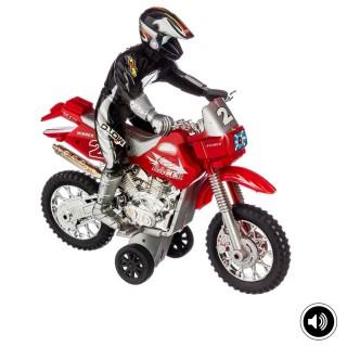 Moto cross à friction - Son et lumière - Rouge
