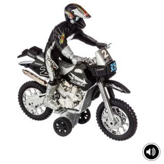Moto cross à friction - Son et lumière - Noir