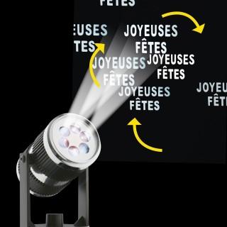 Projecteur LED déco de Noël - 2/3 m de projection - Joyeuses fêtes
