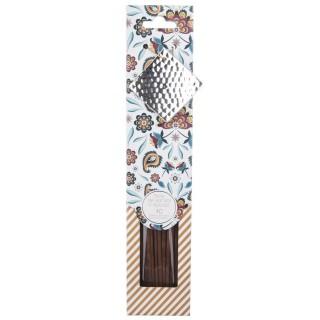 40 Bâtons d'encens avec support - Bois de santal et Epices