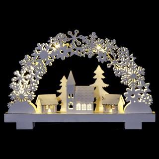 Décoration lumineuse de Noël - 32 x 21 cm - Village