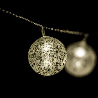 Guirlande lumineuse Noël - L. 135 cm - Boule paillette