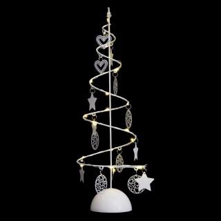 Arbre lumineux en spirale Noël - 14 x 45 cm - Blanc