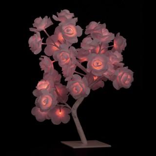 Arbre lumineux de Noël Rose - H. 45 cm - Rose