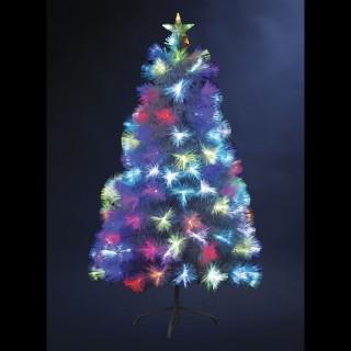 Sapin de Noël artificiel à LED - H. 150 cm - Vert