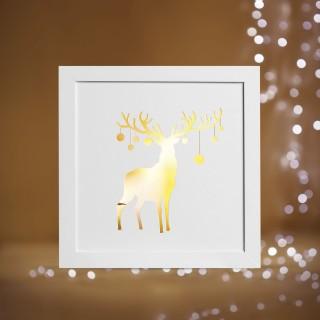 Cadre lumineux de Noël - 22 x 22 - Renne