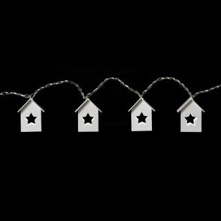Guirlande lumineuse Noël Chalet - L. 135 cm - Etoiles