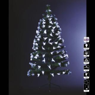 Sapin de Noël artificiel à LED blanche Bouquet - H. 120 cm - Vert