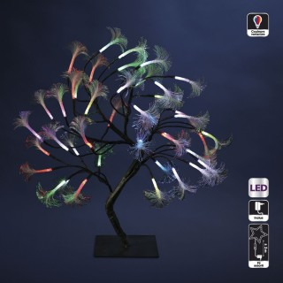 Arbre lumineux de Noël - H. 45 cm - Multicolore