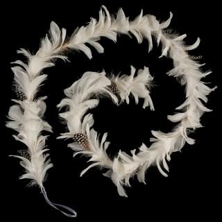 Guirlande de Noël Plumes - 160 cm - Blanc