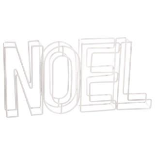 Décoration lettres Noël - 29 x 4 x 15 cm - Blanc