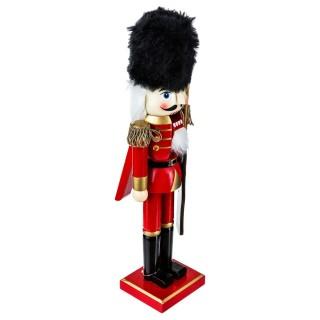 Figurine Casse-noisette de Noël en bois - H. 38 cm - Chapeau