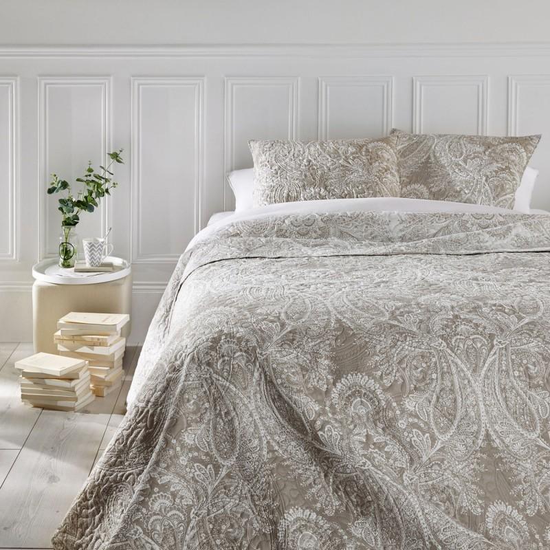 dessus de lit et 2 taies marie 240 x 260 cm lin toilinux. Black Bedroom Furniture Sets. Home Design Ideas