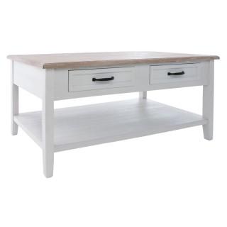 Table basse 4 Tiroirs Damian - 110 x 60 x 45 cm - Blanc