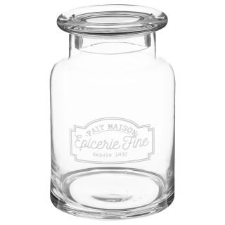 Bonbonnière en verre Epicerie Fine - H. 22 cm - Transparent