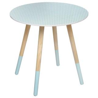 Table à café Mileo - Diam. 48 cm - Bleu scandinave