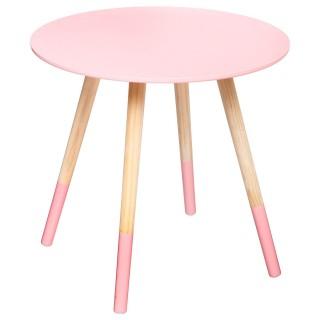 Table à café Mileo - Diam. 48 cm - Rose scandinave