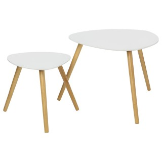 2 Tables à café Mileo - Blanc scandinave