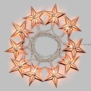 Guirlande 10 Etoiles lumineuses Noël - L. 135 cm - Blanc chaud