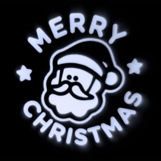 Projecteur LED déco de Noël - 2 m de projection - Père Noël et Merry Christmas