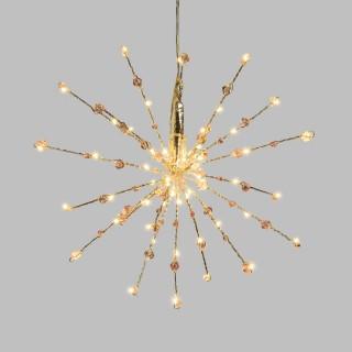 Etoile branches lumineuses à suspendre - Diam. 30 cm - Argent