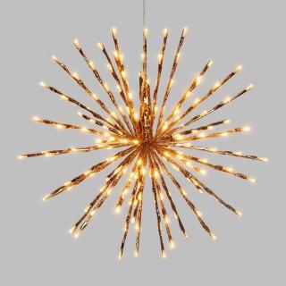Etoile branches lumineuses à suspendre - Diam. 45 cm - Cuivré