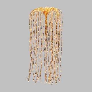 Branches lumineuses saule pleureur à suspendre - H. 120 cm - Cuivré