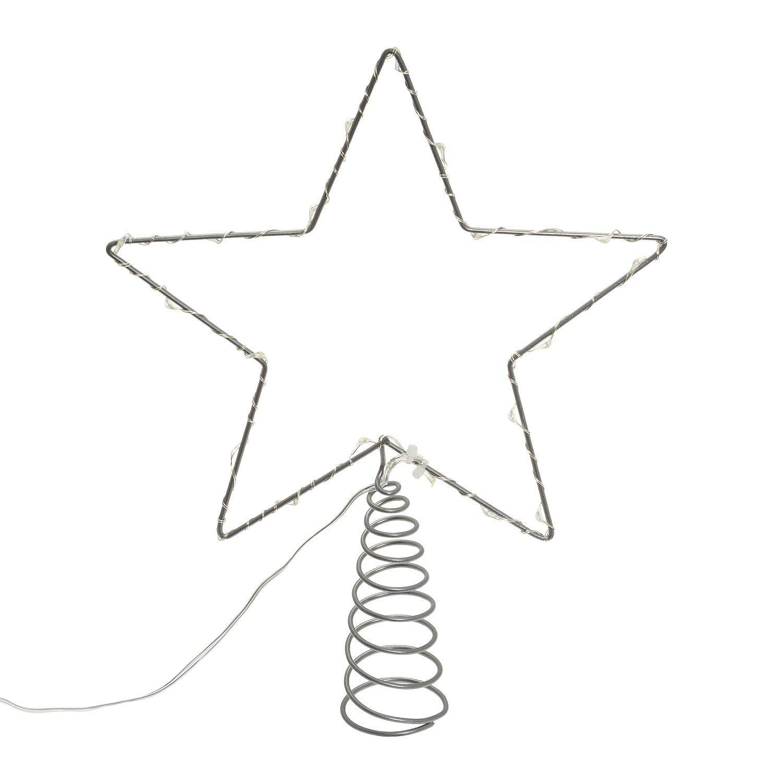 20 cm Blanc-Glitter Star Sapin de No/ël