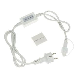 Câble d'alimentation pour guirlandes et rideaux Ixia - L. 1,5 mètres - Blanc
