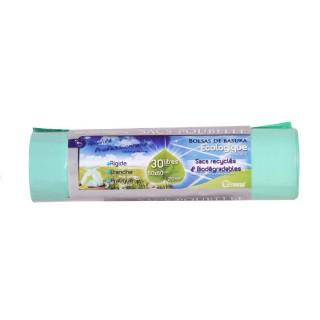 20 Sacs poubelle Ecologiques liens coulissants - 30 L - Vert