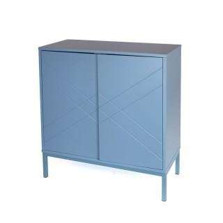 Buffet 2 portes Fila - 70 x 74 cm - Bleu