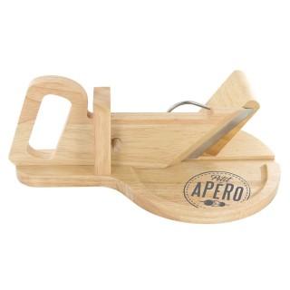 Trancheuse à charcuterie en bois - 30 x 20 cm - Ronde