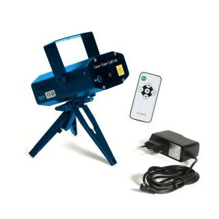 Laser Disco MP3 avec télécommande - 6 Effets lumineux - Bleu