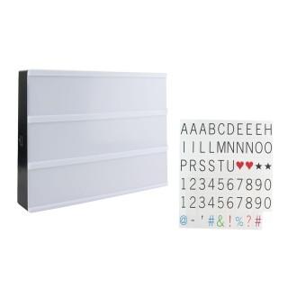 Boîte lumineuse à message A4 - 85 lettres - Blanc