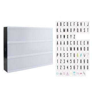 Boîte lumineuse à message A4 - 85 lettres - Multicolore