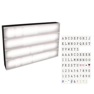 Boîte lumineuse à message A3 - 85 lettres - Blanc