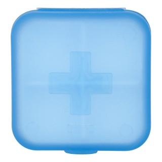 Pilulier de voyage 4 Compartiments - 6,5 x 6,5 - Bleu